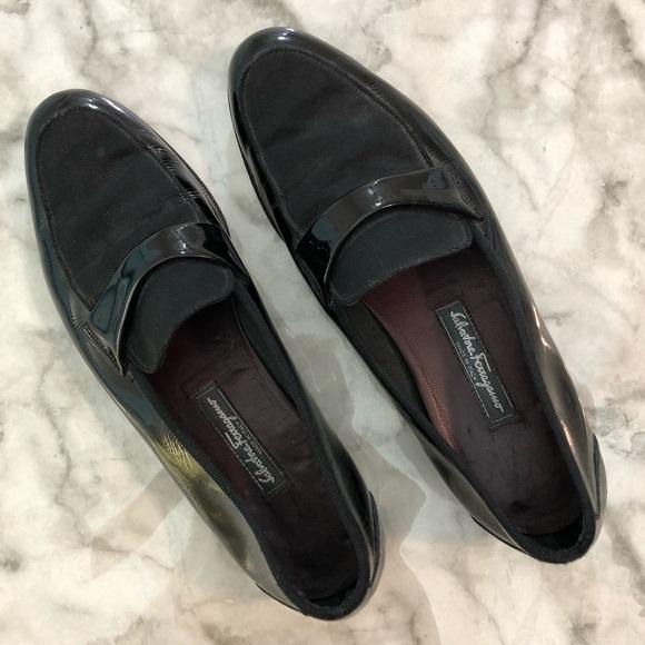 Salvatore Ferragamo Black Tuxedo Shoes